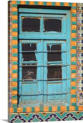 Tiling round blue window, Shrine of Hazrat Ali, Mazar-I-Sharif, Afghanistan