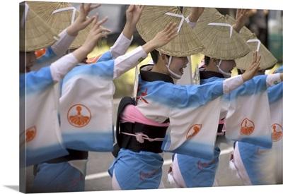 Tokushima Ao Odori Dancers, Nagoya City, Gifu Prefecture, Honshu Island, Japan