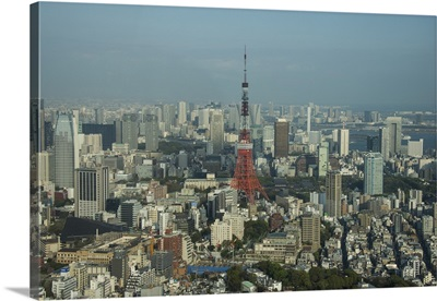 Tokyo Tower, from the Mori tower, Roppongi Hills, Tokyo, Japan