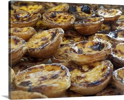 Traditional Portuguese pasteis de nata (Custard tarts), Lisbon, Portugal, Europe