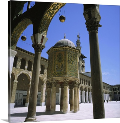 Treasury covered in mosaic, Great Mosque, Damascus, Syria