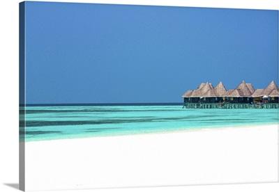 Tropical Beach And Over-Water Villas, Baa Atoll, Republic Of Maldives, Indian Ocean
