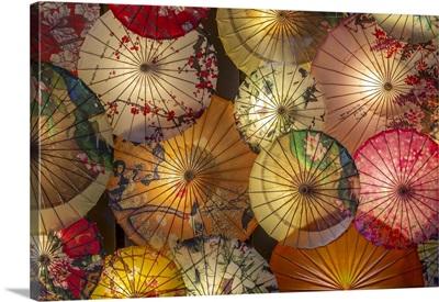 Umbrellas In Kuanxiangzi Alley, Chengdu, Sichuan Province, People's Republic Of China