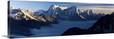 View from Gokyo Ri, Dudh Kosi Valley, Solu Khumbu Region, Nepal, Himalayas