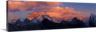View from Gokyo Ri, Mt Everest, Solu Khumbu Region, Nepal, Himalayas