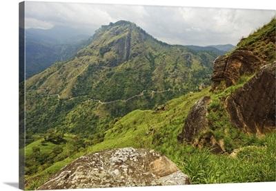 View from Little Adam's Peak across Ella Gap, Ella, Sri Lanka