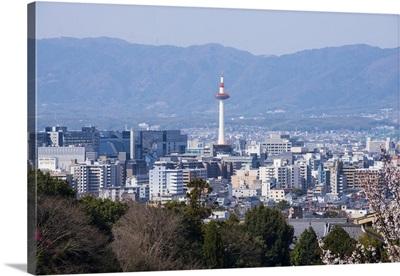 View from the Kiyomizu-dera Buddhist Temple, Kyoto, Japan