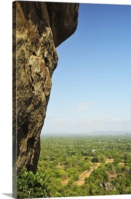 View of plains from Sigiriya (Lion Rock), Sri Lanka, Asia