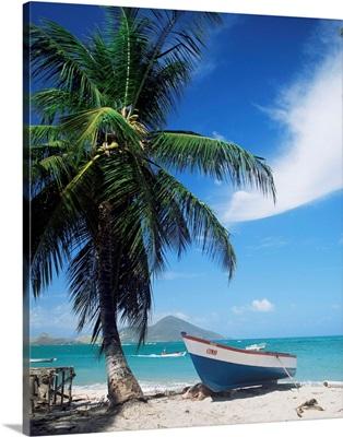 View towards St. Kitts, Nevis, Leeward Islands, West Indies, Caribbean