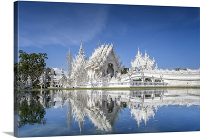 Wat Rong Khun (White Temple), Chiang Rai, Northern Thailand, Thailand, Southeast Asia