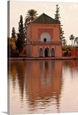 Water Basin, Menara Gardens, Marrakech, Morocco, North Africa, Africa