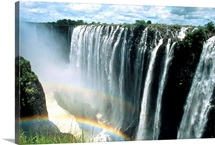 Zambia wall art canvas prints zambia panoramic photos posters waterfalls and rainbows victoria falls unesco world heritage site zambia africa publicscrutiny Images