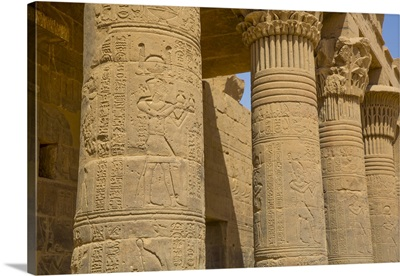 West Colonnade, Temple Of Isis, Philae Island, Aswan, Nubia, Egypt, North Africa, Africa
