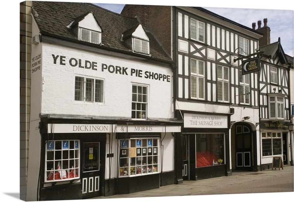 8244a719f3581 Ye Olde Pork Pie Shoppe, Melton Mowbray, Leicestershire, England, UK Wall  Art