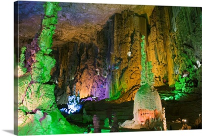 Zhijin Cave, the largest in China at 10 km long and 150 high, Guizhou Province, China