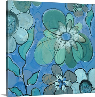 Blue Pop Floral Merge