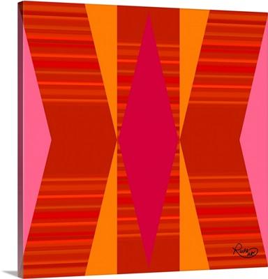 Bright Orange Pink Yellow II