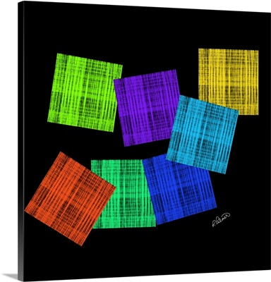 Colored Squares On Black