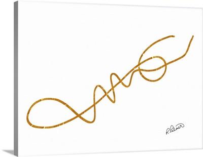 Line Drawn Gold