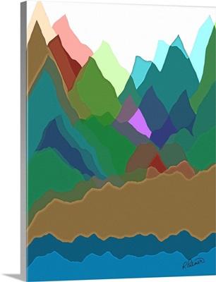 Multicolored Mountain Overlap