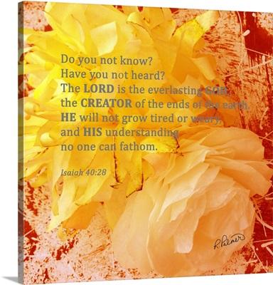Paper Flowers Isaiah 4028