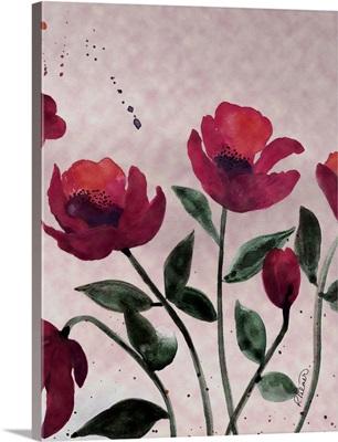 Pink Flowers Three