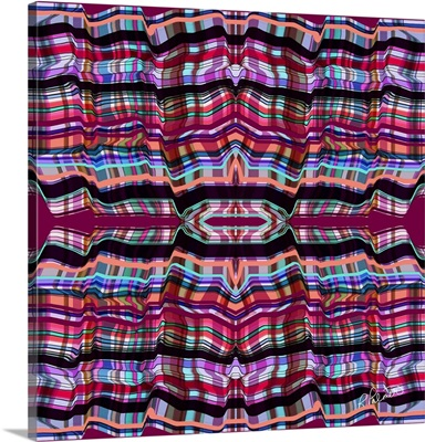 Pink Folded Plaid Two Square