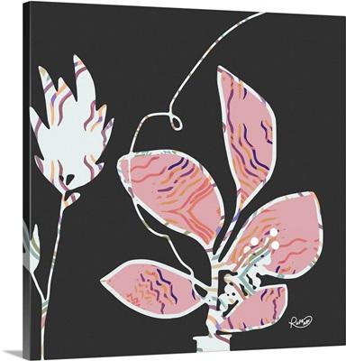 Pink Patterned Floral