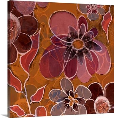 Pop Floral Merge Pink/Orange