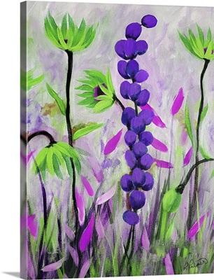 Purple Green Flowers