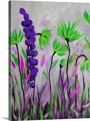 Purple Green Flowers II