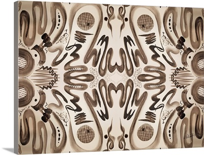 Sepia Squiggle Pattern