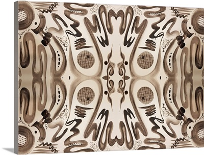 Sepia Squiggle Pattern Two