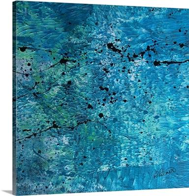 Splattered Blue
