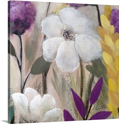 Square White Floral Two