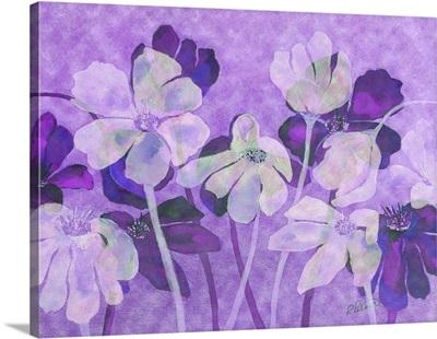 Violet Floral Overlay