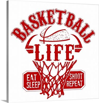 Basketball Life Red