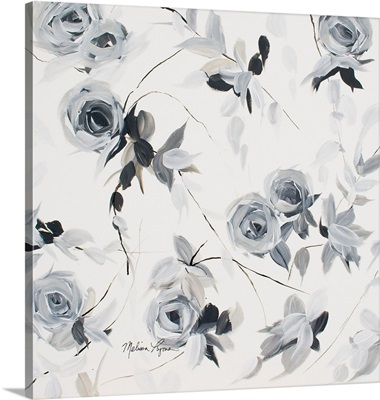 Black And White Floral II