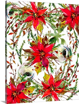 Christmas Florals Collage