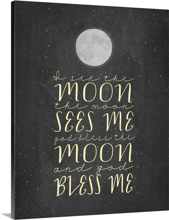 Chalkboard Wall Art god bless the moon and god bless me chalkboard wall art, canvas