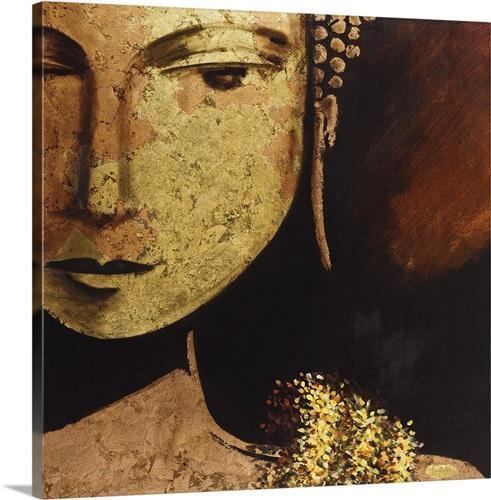Golden Buddha Wall Art, Canvas Prints, Framed Prints, Wall Peels ...