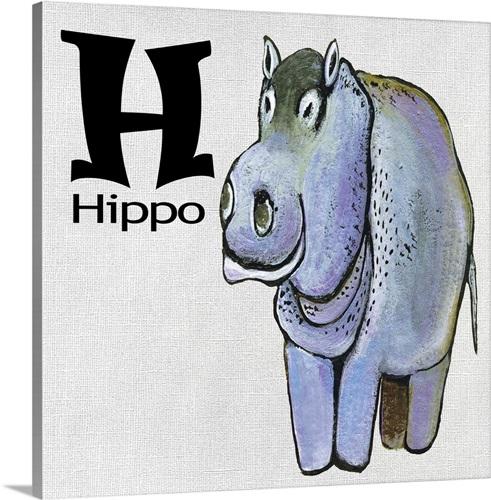H-Hippo Wall Art, Canvas Prints, Framed Prints, Wall Peels | Great ...