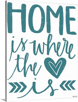 Home Heart Typography