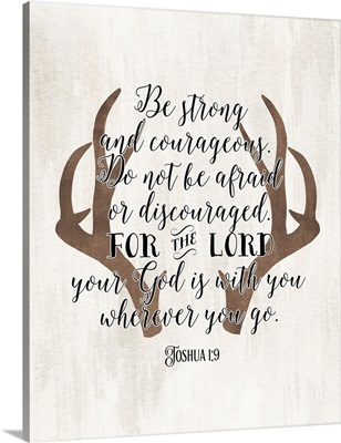 Joshua 1:9 Antlers