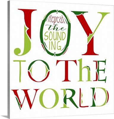 Joy to the World on White