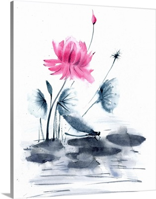 Pink Flower and a Lily Pad