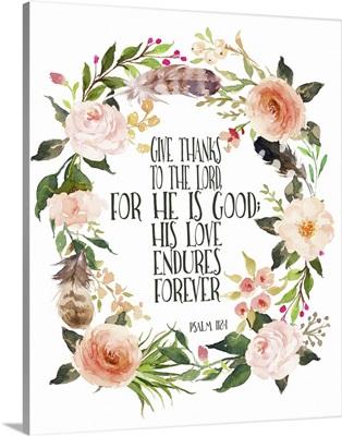 Psalm 118:1 Wreath
