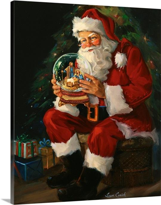 Santa Believes Wall Art Canvas Prints Framed Prints