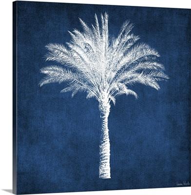 Single Indigo and White Palm Tree