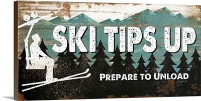Ski Tips Up